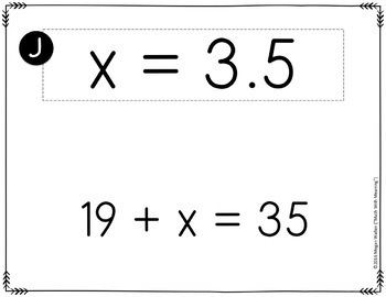 One-Step Equations With Rational Numbers (No Negatives) Scavenger Hunt Activity
