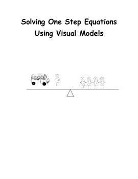 One Step Equations With Visual Models