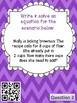 One Step Equations Word Problems Stations | No Negatives