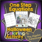 Halloween One Step Equations {Halloween Solving Equations}{Pre-Algebra Halloween