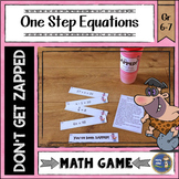 One Step Equations Don't Get ZAPPED Math Game