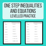 One Step Equations and Inequalities