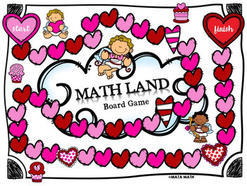 One-Step Equations and Inequalities: Math Land Board Game (Valentine Edition)