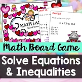 One-Step Equations and Inequalities: Math Land Board Game