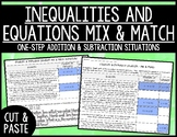 One-Step Equations and Inequalities Mix and Match Activity