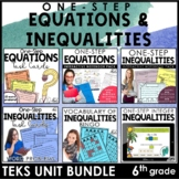 One Step Equations and Inequalities TEKS Unit Bundles