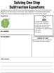 EDITABLE One Step Equations and Story Problem Solving Graphic Organizer Notes
