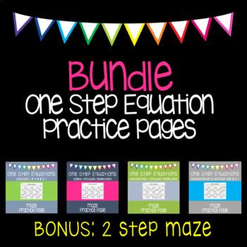 One Step Equations {maze} BUNDLE