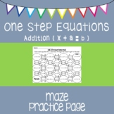 One Step Equations {maze} adding only