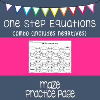 One Step Equations {maze} all operations