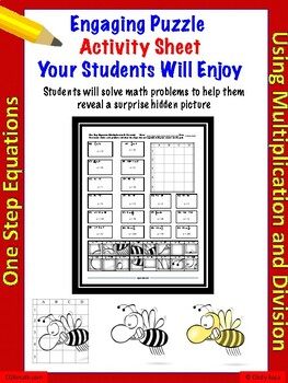 One-Step Equations using multiplication and division  (18 problems)
