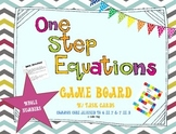 One Step Equations (w/ Whole Numbers) Task Cards and Game Board