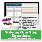 One-Step Equations with Addition / Subtraction: Self Check