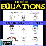 One-Step Equations with Integers Coloring Activity
