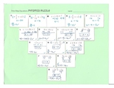 One Step Equations with Integers Pyramid