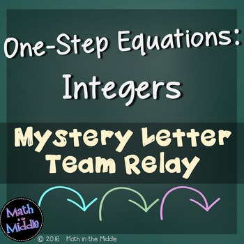 One-Step Equations (with Integers) Team Relay