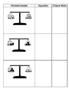 One-Step Equations with Pictorial Models