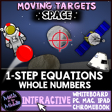 One-Step Equations with Whole Numbers Moving Targets Interactive Review Game