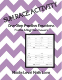 One Step Fraction Equations (Positive & Negative Answers)