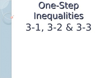 One-Step Inequalities