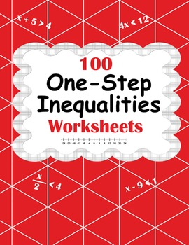 One-Step Inequalities Worksheets