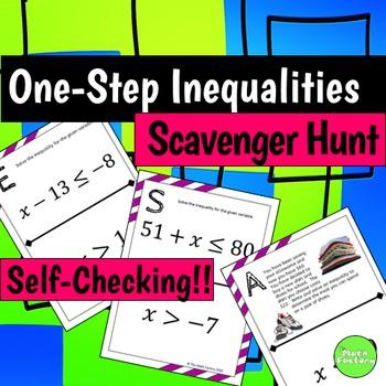 One Step Inequalities Scavenger Hunt Activity