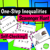 One Step Inequalities Scavenger Hunt Activity