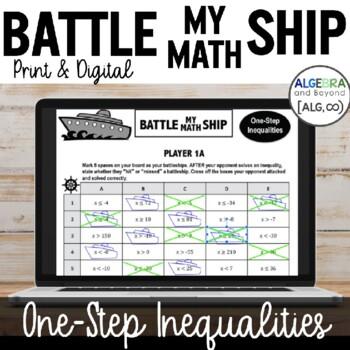 One-Step Inequalities - Battle My Math Ship Activity