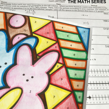 One-Step Inequalities Math with Color!