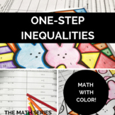 One Step Inequalities - Math with Color - Easter Math!
