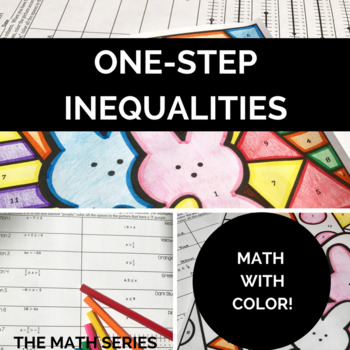 One-Step Inequalities Calculate and Color!