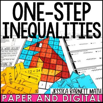 One-Step Inequalities Lesson Bundle
