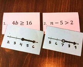 One Step Inequalities Match Game with Recording Sheet