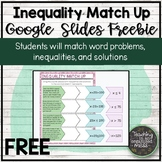 One-Step Inequalities Match Google Slides Digital Activity