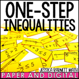 One-Step Inequalities Matching Activitiy