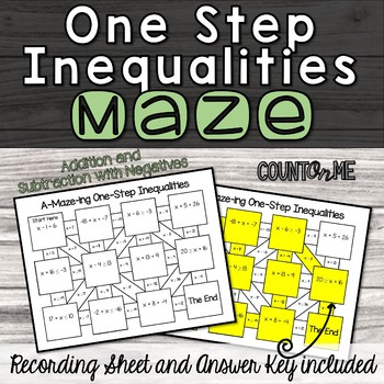 One Step Inequalities Maze (Addition and Subtraction)