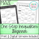 One Step Inequalities Maze - Beginner