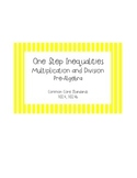 One Step Inequalities Multiplication and Division