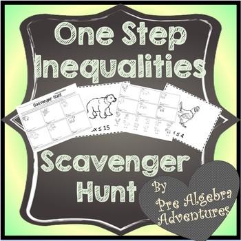Solving Inequalities Scavenger Hunt  {Solving Inequalities Activity}