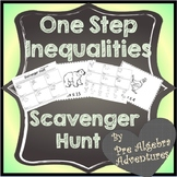 One-Step Inequalities Scavenger Hunt {One Step Inequalitie