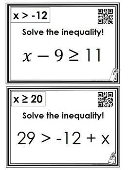 One Step Inequalities: Scavenger Hunt