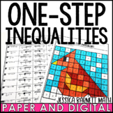 One-Step Inequalities Valentine's Day Coloring Page
