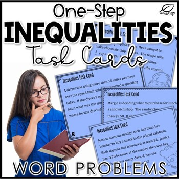 One-Step Inequalities Word Problems Task Cards