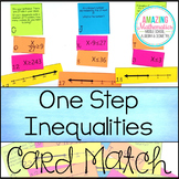 One Step Inequalities on a Number Line Matching Cards