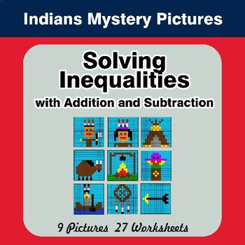 One-Step Inequalities with Addition & Subtraction - Math Mystery Pictures