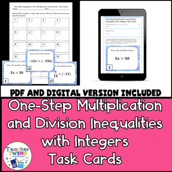 One-Step Inequalities with Multiplication and Division Tas
