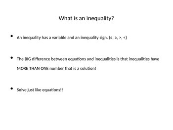 One-Step Inequality PowerPoint