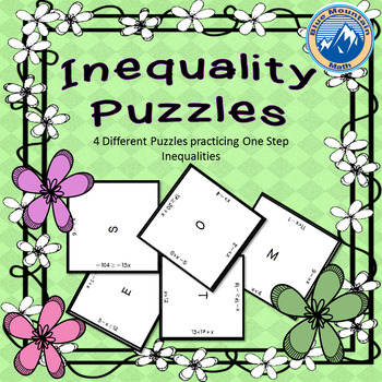 One Step Inequality Puzzle Set