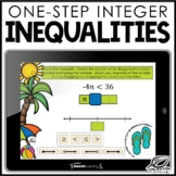 One Step Integer Inequalties | Boom Cards | Distance Learning