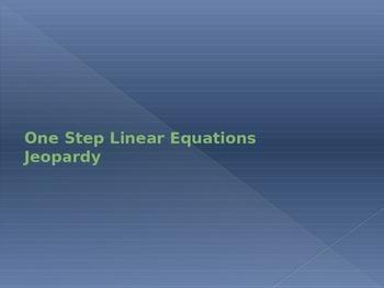 One-Step Linear Equation Jeopardy